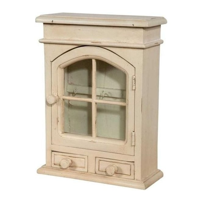 Cream Antique French Style Key Cabinet