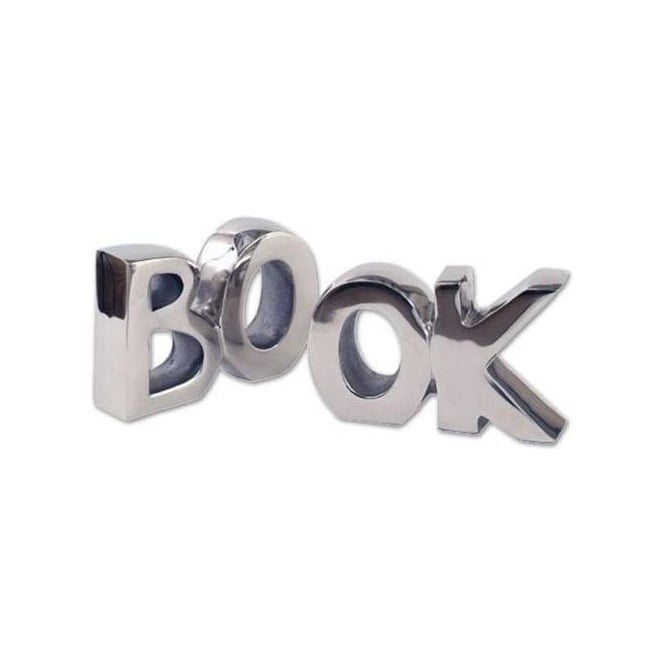 Aluminium 'Book' Bookends