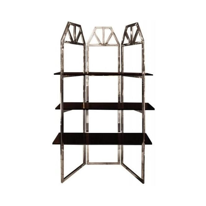 Stylish Deco Shelving with Faux Leather Shelves