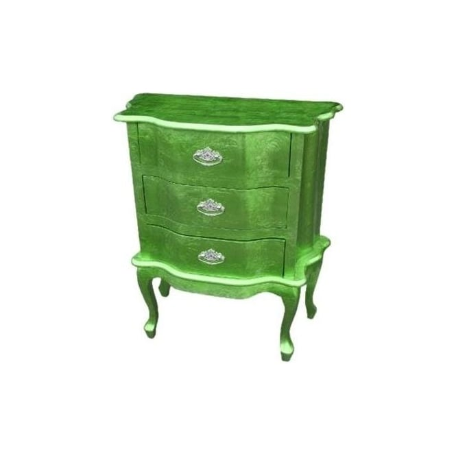 High Gloss Antique French Style Bedside Chest