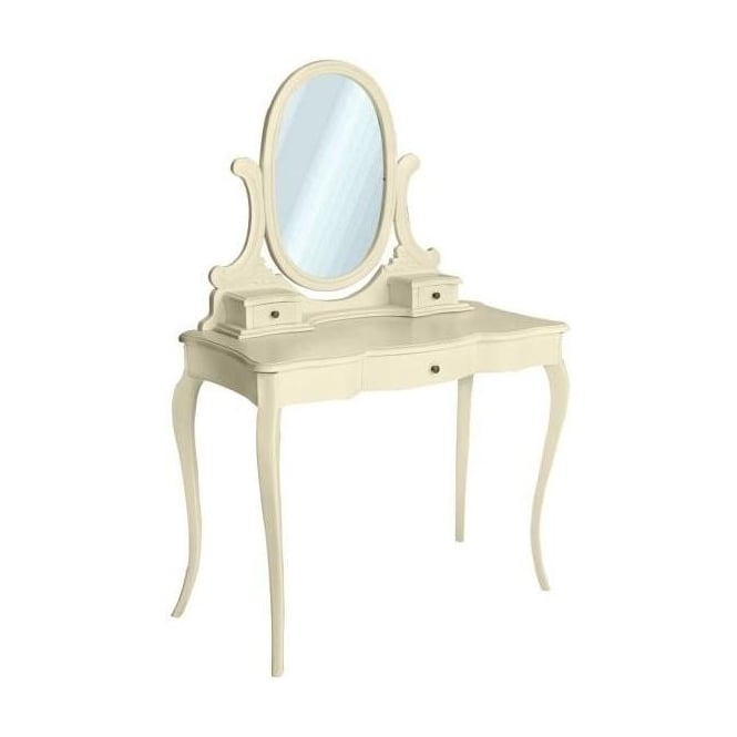 Ivory Antique French Style Dressing Table