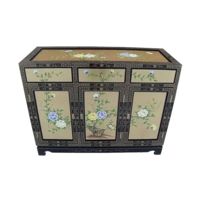 Gold Leaf Antique French Style Sideboard