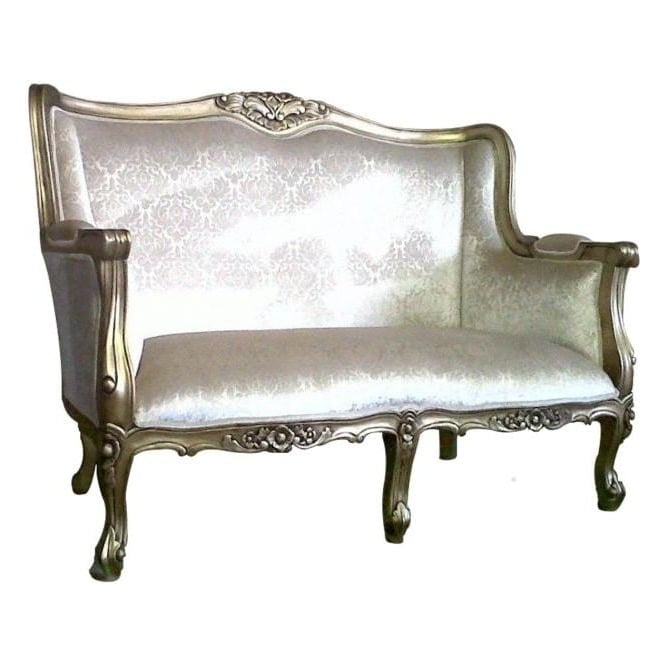 Gold Antique French Style Chaise