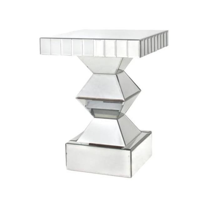 Contemporary Crystal Mirrored Side Table