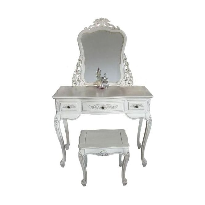 Handcarved Ivory Antique French Style Dressing Table Set