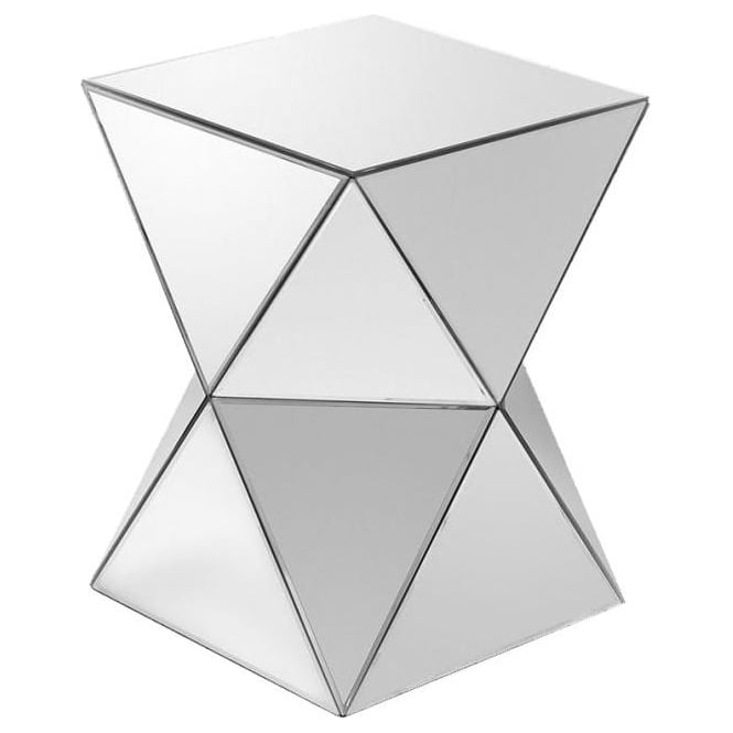Triangles Mirrored Pedestal Table