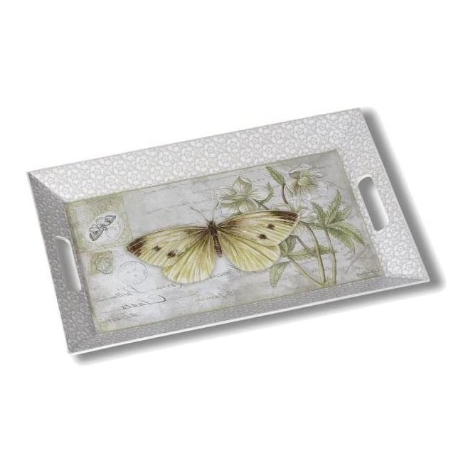 Butterfly Large Rectangular Tray
