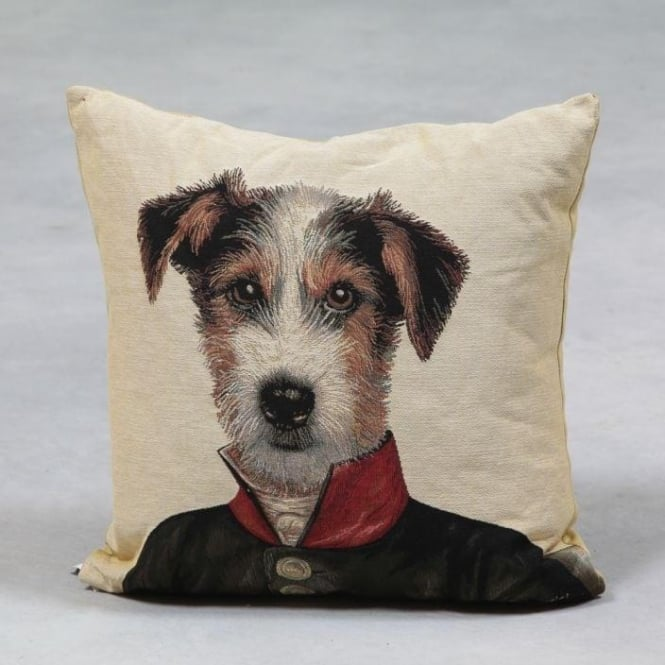 Jack Russell Private Tapestry Cushion