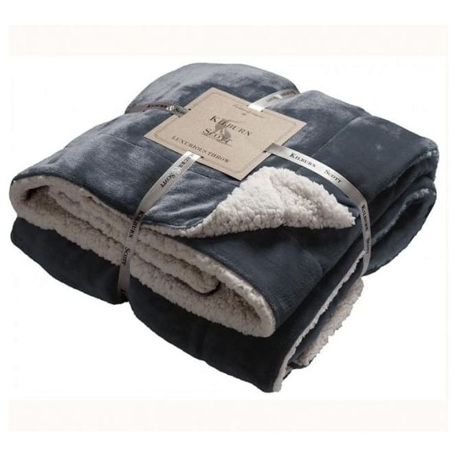 Grey Sherpa Throw