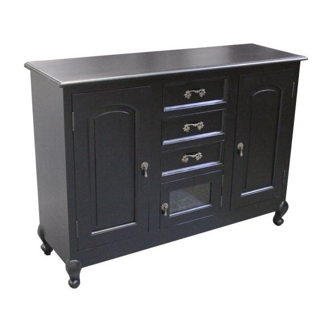 Black Antique French Style Sideboard