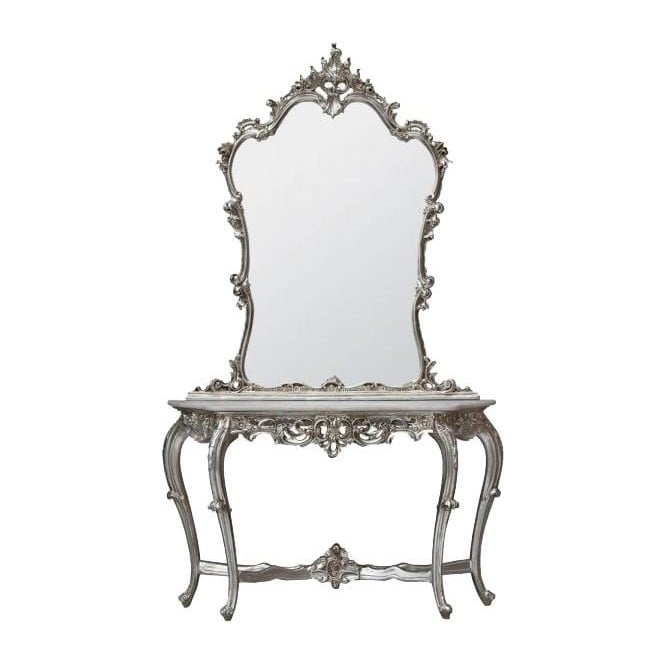 Silver Antique French Style Dressing Table