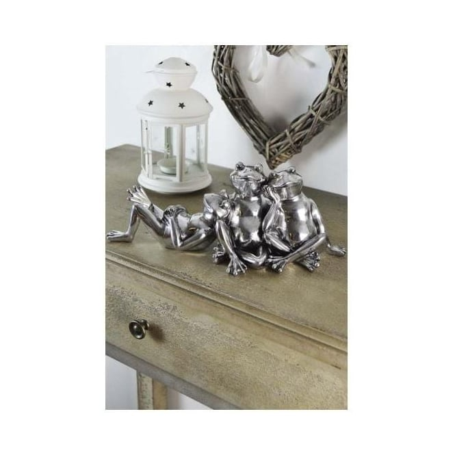 Freestanding Silver Frogs Ornament