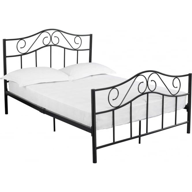 Zeta Black Metal Bed Contemporary Bedroom Furniture