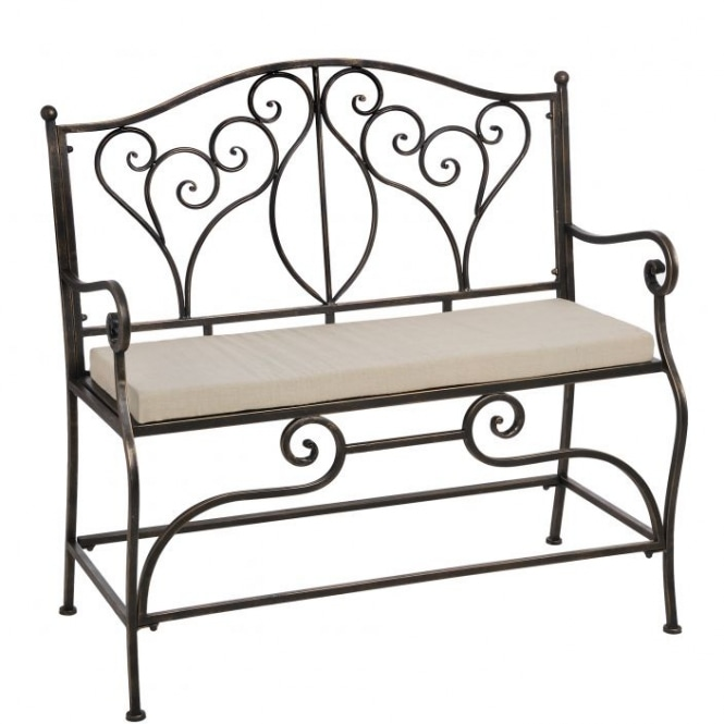 Iron Occasional Antique French Style Bench