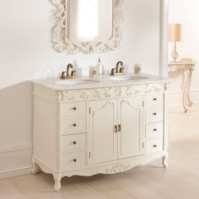 Double Antique French Style Vanity Unit