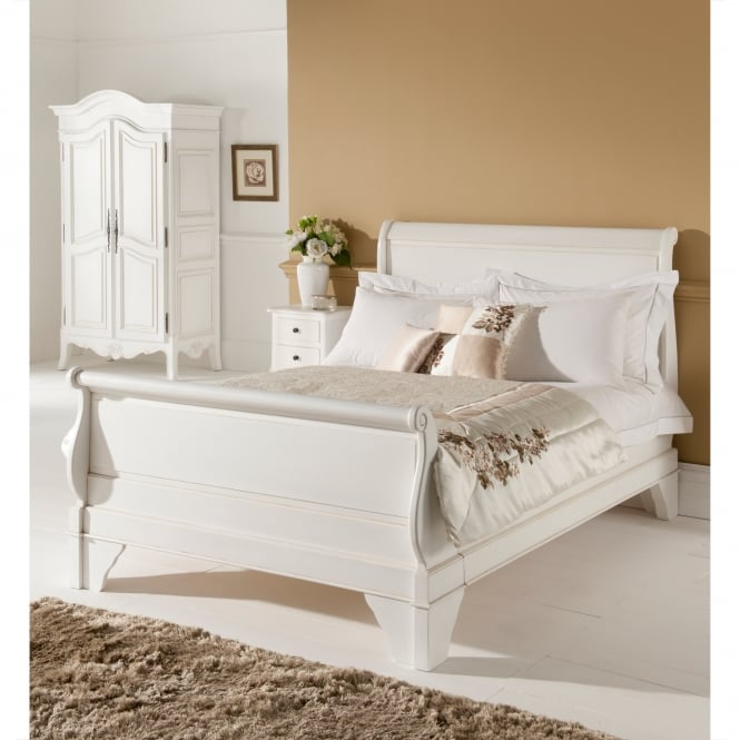 Paris Antique French Style Sleigh Bed