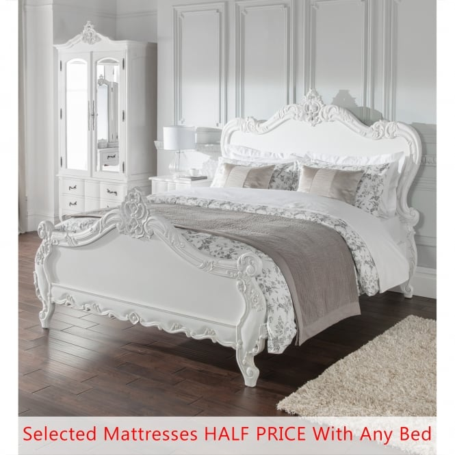 Double Antique French Style Bed - Bundle Deal