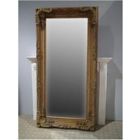 Ornate Framed Antique French Style Floorstanding Mirror