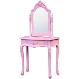 Small Pink Antique French Style Dressing Table