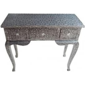 Blackened Silver Antique French Style Console Table