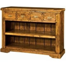 Granary Low 4 Drawer Bookcase