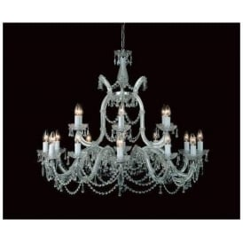 Antique French Style Crystal Pendant Light
