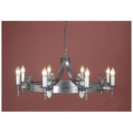 Antique French Style Sterling Silver Pendant Light