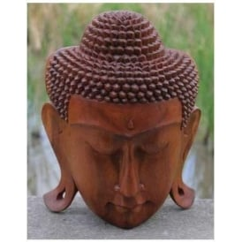 Wooden Buddha Head Wall Decoration