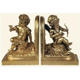 Antique French Style Sitting Cherub Bookend