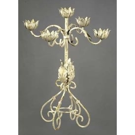 Antique French Style Metal Candle Holder