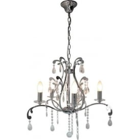5 Light Electric Chrome Antique French Style Pendant