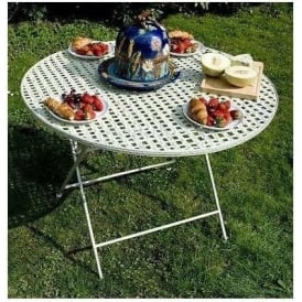 Round Metal Garden Table
