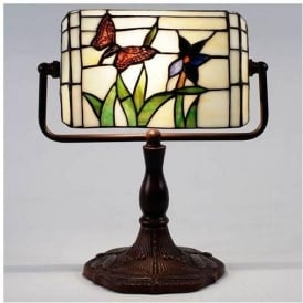 Butterfly Bankers Tiffany Lamp