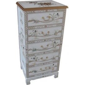 Mother of Pearl Chinese Chest of Drawers
