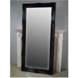 Black Antique French Style Floorstanding Mirror