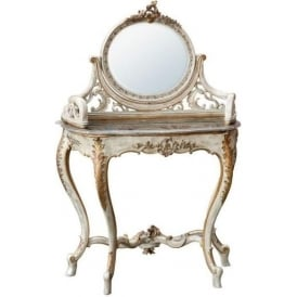 Brown Marble Antique French Style Dressing Table