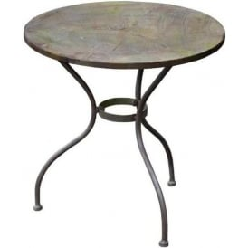 Bronze Round Metal Children's Garden Table