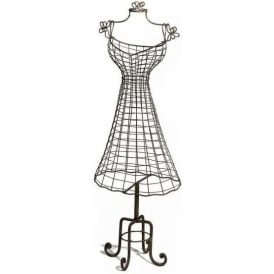 Vintage Metal Antique French Style Wire Manequin