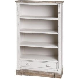 New England Shabby Chic Low Bookcase