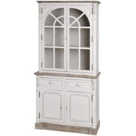 New England Shabby Chic Display Cabinet