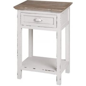 New England Shabby Chic Bedside Table