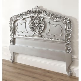Silver Rococo Antique French Style Headboard