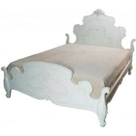 Rose Kingsize Antique French Style Bed