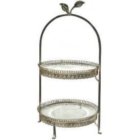 Little Leaf 2 Tier Cake Stand