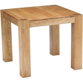 Chunky Oak Square Dining Table