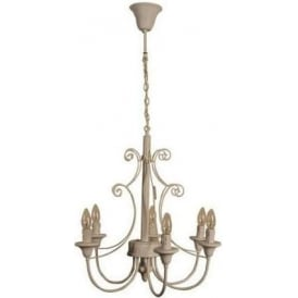 White Antique French Style Country Chandelier