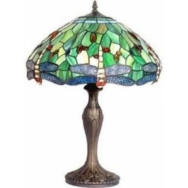 Antique Dragonfly Tiffany Lamp