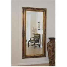 Gold and Claret Antique French Style Mirror