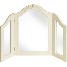 Country 3 Way Dressing Antique French Style Table Mirror