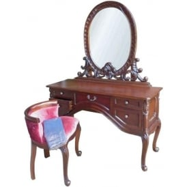 Mahogany Antique French Style Dressing Table Set